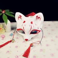 Wholesale japanese masks halloween for sale - Fox Face Mask Plastic PVC Japanese Style Exquisite Half Masks With Tassels Decoration Supplies Hot Sale yd BW