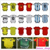 Wholesale baby full month - Baby Soccer Jersey For 6 To 18 Month Infant 2018 World Cup Argebtina Spain Mexico Colombia Belgium Sweden Russia Kid Football Shirt Jersey