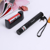 Wholesale high powered green laser flashlight - Laser Pen Green Light Pens High Power Star Night Hunting Lights Portable Focus Flashlights Adjustable 303 Set With Charge GGA641 12PCS