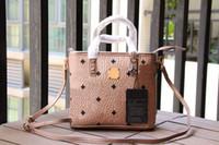 bolso de la manera de la señora coreana al por mayor-Bolso de moda coreano para mujer bolso de compras lindo mini marca para mujer bolso de hombro con estampado