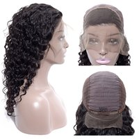 Wholesale brazilian girls curly hair for sale - Cheap Brazilian Deep Wave curly human hair full lace wigs Peruvian Human Hair Lace Front Wigs High Quality Lace Front Wig Black Girl