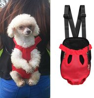 Wholesale Backpack Dog Carriers - Pet Outdoors Backpack 2018 Cats Dogs Travel Knapsacks Light Portable Pet Back Pack Good Air Permeability Bagpack carry bag BBA26
