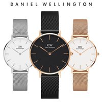 Wholesale girls watches - New Fashion Girls Steel strip leather D Wellington watches mm women watches Luxury Brand Quartz Watch Relogio Feminino Montre Femme