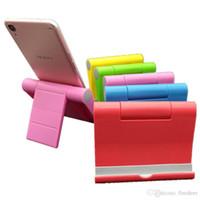 красивый держатель телефона оптовых-Держатель телефона 6 цветов универсальный телефон стенд с красивым пакетом складной сотовый телефон поддержка ABS для iPhone 8P 7 8 X