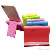 güzel cep telefonları toptan satış-Telefon tutucu 6 renkler Güzel telefon ile Evrensel Telefon standı Katlanabilir Cep Telefonu destek iPhone 5 P Için ABS 8 8 X