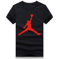 ingrosso camicie da basket-T-shirt girocollo sport all'ingrosso Nuovo t-shirt moda uomo donna marchio manica corta maglietta stampa divertente cotone uomo cool t shirt