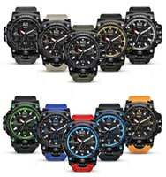Wholesale men gear watch resale online - Multi Function Digital Military Watch Outdoor Sports Man Alarm Clock Waterproof Lovers Luminous Colourful Tactical Gear Watches GGA640