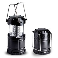 Wholesale night light retail resale online - Portable Camping Lantern Collapsible Hiking Night Light Outdoor light LED with Retail Box High Quality