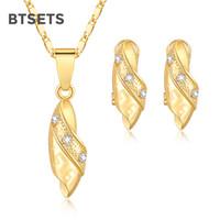 свадебные золотые украшения для невест оптовых-Turkish Wedding Jewelry Sets For Brides Geometric African  Jewelry Set Gold Color  Women Necklace Earrings Set