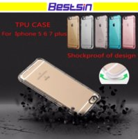 Wholesale soft plastic material - Shockproof Corner Airbags Soft TPU Phone Case Transparent Back Cover TPU material for Iphone DHL