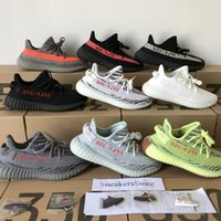 Wholesale frozen low shoes for sale - 2018 Sply V2 Static Butter Sesame Beluga Blue Tint Semi Frozen Yellow Bred Cream White Zebra Running Shoes Sport Sneakers