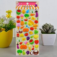Lot Fun Puffy Cartoon 3D Fruit Strawberry Stickers Kids Crafts Gift Party Gift