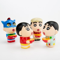 crayon shin chan brinquedos venda por atacado-Crayon Shin Chan 4 P para o Bolo de decoração para casa Ornamento Crianças Brinquedos Figuras de Ação Bonecas para crianças presente de natal PARA O CARRO