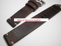 Wholesale watch strap parts - high quality HAND MADE GENUINE LEATHER crazy horse VINTAGE ROUGH MEN WATCH STRAP BAND BRACELET for repair CHANGE REPLACE FIX ACCESSORY PARTS