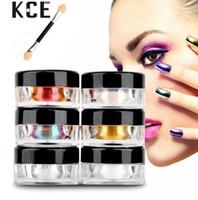 Wholesale 12 nail powder online - 12 piece Magic Chrome Nail Powder Mirror Effect Nails Pigment Powder Dust Laser Magic Shinning Nail glitter powder
