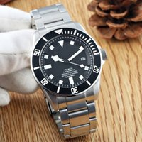 Wholesale mens black leather band watch - 2017 Luxury Brand Pelagos Watch 25600TB Automatic Movment Stainless Steels Leather Band Black  BLUE Dial Sport Men Mens Watch Watches