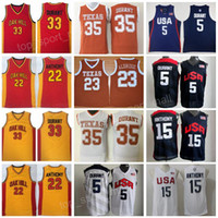 Wholesale lamarcus aldridge jersey - Texas Longhorns College Basketball Jersey 35 Kevin Durant Lamarcus Aldridge Oak Hill High School 22 Syracuse Orange Carmelo Anthony Team USA