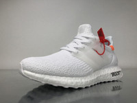 Wholesale Free Shoelaces - Free Shipping Ultra Boost 3 Triple White BA88413 Running Shoes Mens Womens Real Boost White Sneakers with Shoelaces(Real Boost) BA88413