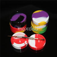 Wholesale pokeball wax jars resale online - 10 types silicone wax containers jars dab ml ml ml ml ml ml round pokeball ball square acrylic holder storage dabber tool vaporizer