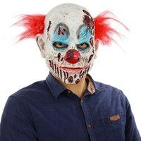 canlı yayın toptan satış-Cadılar Bayramı Korku Büyücü Palyaço Maskesi Başkanı Kapak Perili Ev Odası Kaçış Giydirme Canlı Gösterisi Korkunç Fantezi Elbise Şenlikli Parti