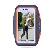 ingrosso luce banda del braccio-AONIJIE Outdoor Ultra Light Sport borsa da corsa per telefono cellulare trasparente custodia da bicicletta braccio fascia per 4.7