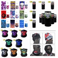 Wholesale adult cartoon scarf for sale - 23styles Seamless Multifunction printed D mask Cycling Snowboard Scarf Neck Face Mask Cycling Scarf headscarf skull mask FFA811