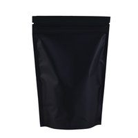 Wholesale mylar fabric resale online - High Quality x18cm x7in Black Silver Black Self Seal Food Storage Aluminum Foil Mylar Zip Lock Heat Seal Bags