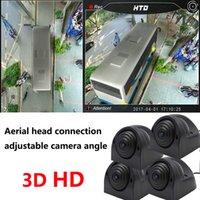 Wholesale camera panoramic view online - Bus car panoramic seamless driving recorder parking reverse aerial view system adjustable angle camera aviation head D P