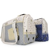Wholesale dog handbags carriers resale online - Dog Cat Pet Bag Outside Portable Puppy Handbag Kitty Knapsack Teddy Cage Travel Box Pets Supplies dd gg