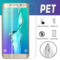 Wholesale Pet Guards - 3D Full Coverage Curved PET Screen Protector HD Clear Premium Soft Front Film Guard For iPhone X 8 7 6 6S Samsung S9 Plus S8 S7 Edge S6