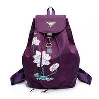 sac à main d'impression coréenne achat en gros de-nouveau sac à bandoulière en nylon imprimé sac à main version coréenne du sac à dos de voyage imperméable sauvage simple marée