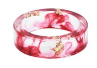 Wholesale american papers - 8 Colors Gold Foil Paper Inside Clear Resin Ring For Women And Men Jewelry Colorful Special Design