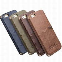Wholesale iphone6 plus case leather online - New Arrival luxury vintage leather back case cover for iPhone6 S plus with card holder
