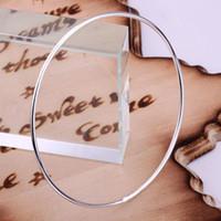 ingrosso bracciali singoli d'argento-intero braccialetti del braccialetto placcato argento di vendita925, monili d'argento di modo Singolo anello Braccialetto / TYPQQALE YAHPWMPC