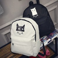 0e98940a793b japanese backpacks Canada - Korean Harajuku Japanese Cartoon Cart Bear  Printing Men Women Simple canvas Backpack