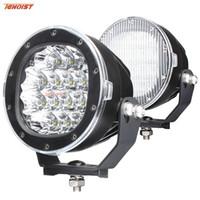 utv geführtes punktlicht rund großhandel-Schwarzes Shell 5 Zoll Cree Chips 80W LED Frontstoßstange-Arbeits-Licht für Wrangler LKW ATV UTV Auto 12V 24V