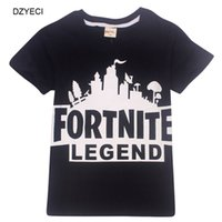 Wholesale clothes for teenage girls - New Fortnite T-shirt For Teenage Boy Girl Top Clothes Summer Kid Short Sleeve Letter Cartoon Tee Children Tank Clothing 6-14 Year