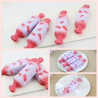 Wholesale milk candy - Simulation Squishy Milk Candy Toys Slow Rising Nougat Jumbo Sweets Food Squeeze Scented Cake Decompression Toy Phone Straps Pendant AAA146