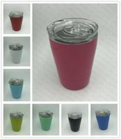 up mug achat en gros de-UPS! Tasse à gobelet pour enfants 9oz avec pailles couvertes Tasse à vin isolée Tasses à vin en acier inoxydable Mug pour enfants