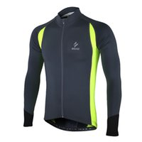 Wholesale cycling jersey long sleeve summer - 2018 New Men's Summer Spring Long Sleeve Cycling Jersey Quick Dry Outdoor Sportswear Clothing MTB Bike Bicycle Zipper Shirt