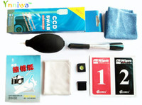 Wholesale paper tracks online - 9 in1 Camera Lens Clearing suit Lens Clean cloth Air Blower cleaning bursh Clean cloth clean paper hot shoe CCD SWAB with track