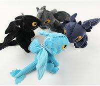 ingrosso ems giocattoli-EMS 20cm Come addestrare il tuo drago di denti di peluche in cotone PP senza denti per bambini giocattoli H057