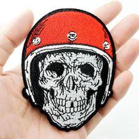 diy punk kıyafetleri toptan satış-Kafatası Nakış Giyim Punk Hippi Dikmek Için Demir Yamaları Demir Aplike Yama Karikatür DIY Konfeksiyon Kot Rozeti