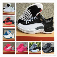 Wholesale glitter box - With box 12 XII Low Basketball Shoes Sneakers Men Women shoes Blue white black pink High Quality 12s Basketball Shoes Sneakers