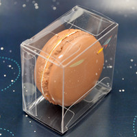 Wholesale boxes for bomboniere resale online - Hot sell cm Clear Plastic Macaron Box for Macarons Bomboniere Favors Candy Boxes lin2410
