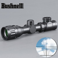 caza de escopeta al por mayor-BUSHNELL 2-6X32 Caza Verde Punto Rojo Iluminado Tactical Riflescope Retícula Óptica Sight Scope para Escopeta Riflescope