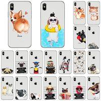 iphone 5s hüllen tierhund großhandel-Weicher TPU Telefonkasten für iphone x 8 7 6 6s plus Fall 5s Karikaturtierkatzen-heiserer Hundevolldeckungsqualität