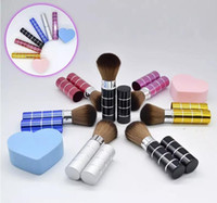 Wholesale color design lipstick for sale - Group buy Lipstick tube makeup brush Telescopic design for carry in bag powder brush special Portable cosmetic brush color