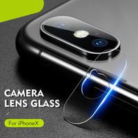 iphone vidros temperados venda por atacado-2.5d macio temperado óculos para iphone xs max xr voltar lente da câmera filme protetor de tela de fibra macia para iphone xs com pacote