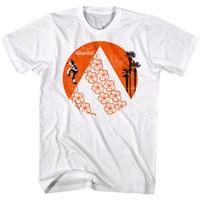 ingrosso palme sole-Karate Kid Rising Sun Palms Fiori Maglietta da uomo Daniel-San Larusso Cobra Kai